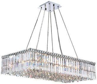 "Worldwide Lighting Cascade 16-Light Chrome Crystal Chandelier 36""x18""x7.5"""