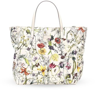 Gucci Pre Owned Floral Print Tote Bag