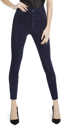 Alice + Olivia Mikah Suede High Rise Pant