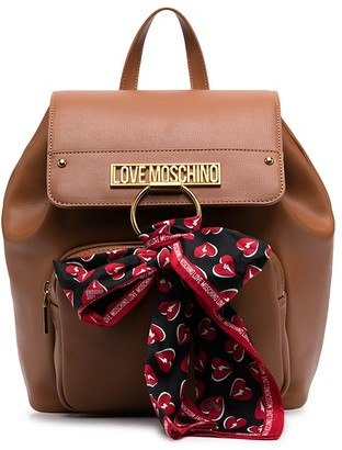Love Moschino Scarf-Detail Backpack
