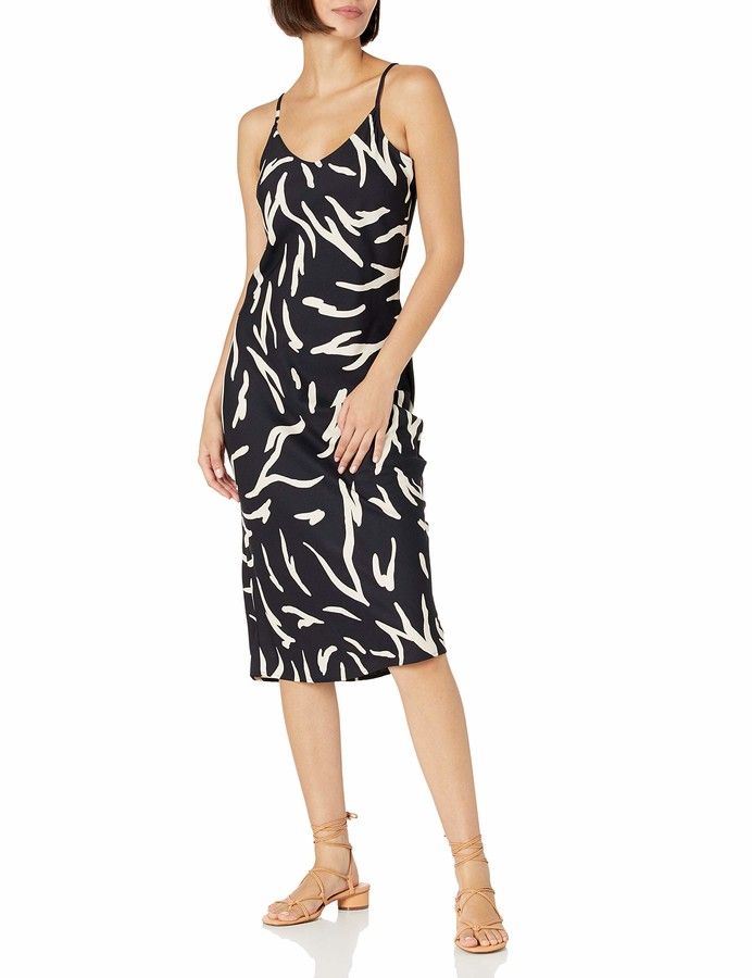 Daily Ritual Georgette Fluid Drape Standard-fit Slip Dress