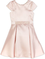 Zoë Ltd Sweet Treat Cap-Sleeve Fit-and-Flare Dress, Blush, Size 7-16