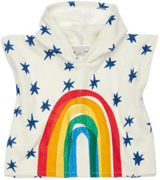 Stella McCartney Rainbow Print Cotton Terry Poncho