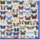 Eton Butterfly Silk Pocket Square
