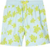 Vilebrequin Flocked turtle motif swim shorts 10-14 years