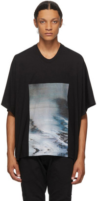 Julius Black Cropped Avalanche T-Shirt