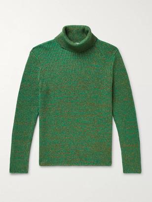Gucci Slim-Fit Metallic Melange Cotton-Blend Rollneck Sweater