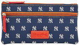Dooney & Bourke MLB Yankees Double Zip Flat Pouch