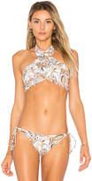 Beach Riot X REVOLVE Jessica Bikini Top in White. - size L (also in M,S,XS)