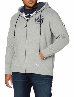 Jack and Jones Men's JORUPTON Sweat Zip Hood Plus Track Jacket