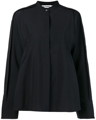 Jil Sander oversized mandarin collar shirt
