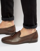 Asos Tassel Loafers in Brown Leather