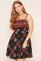 Forever 21 FOREVER 21+ Plus Size Ornate Cami Dress