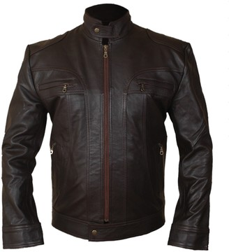 Feather Skin Ghost of Girlfriends Past Style Leather Jacket-S Brown
