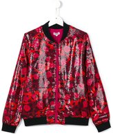 Kenzo jungle patterned bomber jacket - kids - Polyester/Viscose - 14 yrs