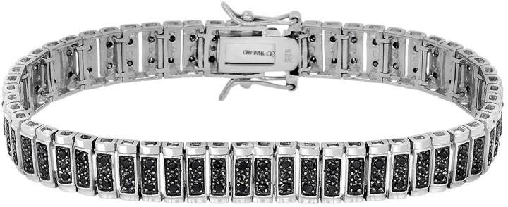 Black Diamond 1 Carat T.W. Sterling Silver Bracelet