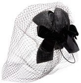 Gucci Velvet-bow Net And Straw Fascinator - Womens - Black