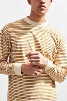 Urban Outfitters Stripe Mock Neck Long Sleeve Tee