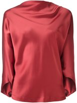 Chalayan draped boat neck top - women - Acetate/Viscose - 44