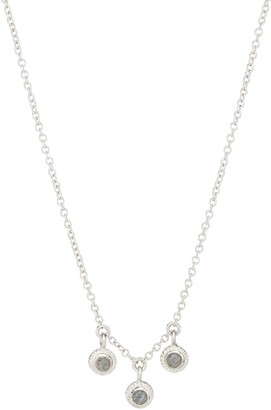 Anna Beck Sterling Silver Triple Stone Labradorite Pendant Necklace