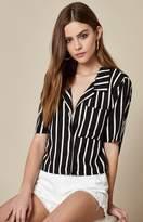 La Hearts Woven Button Down Shirt