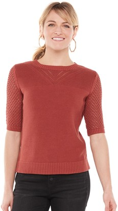 Sonoma Goods For Life Women's Pointelle Sweater