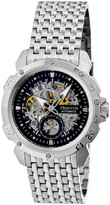 Heritor Automatic Men's Watches Silver/Black - Stainless Steel & Black Carter Automatic Bracelet Watch