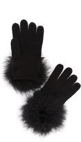 Kate Spade Marabou Pom Pom Gloves