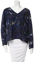 Parker Silk Floral Blouse w/ Tags