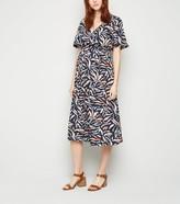 New Look Maternity Animal Print Wrap Dress