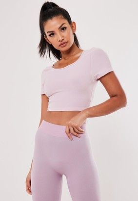 Missguided Pink Cross Back Gym T Shirt