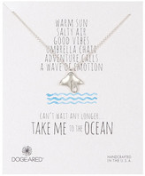 Dogeared Sterling Silver Take Me To The Ocean Sting Ray Necklace