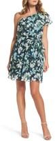Eliza J Petite Women's Ruffle One-Shoulder Dress
