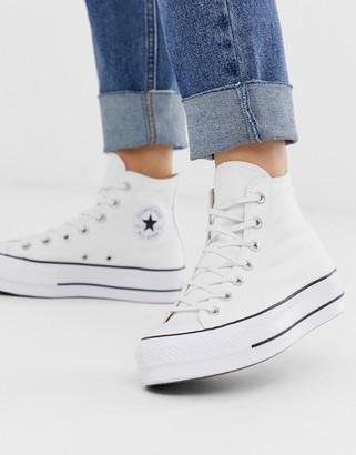 white converse womens platform