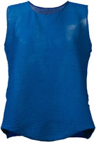 Issey Miyake flared blouse - women - Polyester - One Size