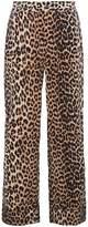 Ganni leopard print trousers