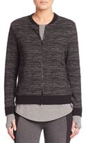 Elie Tahari Heathered Zip-Front Jacket