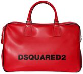 DSQUARED2 Logo Printed Faux Leather Duffle Bag