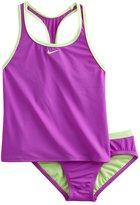 Nike Girls 7-14 2-pc. Racerback Tankini Swimsuit Set