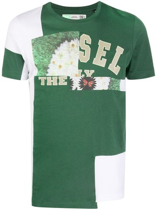 Diesel D-Frankenstein 2.1 graphic patchwork T-shirt