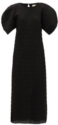 Mara Hoffman Aranza Smocked Organic Cotton-blend Midi Dress - Black