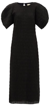 Mara Hoffman Aranza Smocked Organic Cotton-blend Midi Dress - Womens - Black