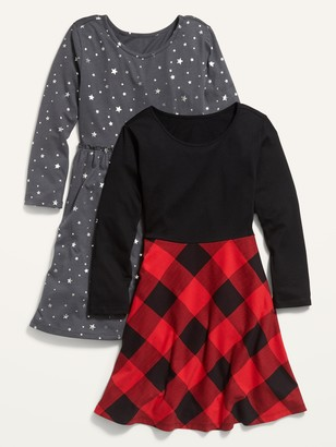 Old Navy Long-Sleeve Jersey Dress 2-Pack for Girls