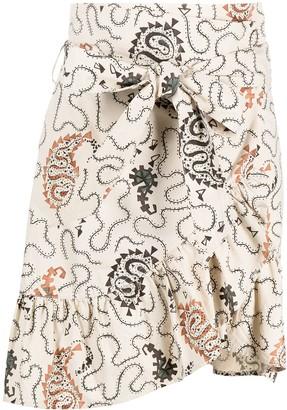 Etoile Isabel Marant Paisley Print Asymmetric Skirt
