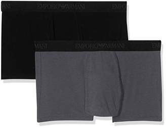 Emporio Armani Men's Men's 2-Pack Trunk/Retro Shorts Short,Large