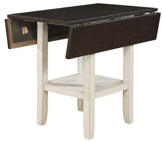 Rosalind Wheeler Darvell Dual Tone Solid Wood Pub Table