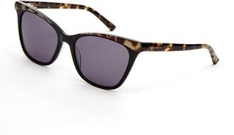 Ted Baker 57mm Plastic Square Cat Eye Sunglasses