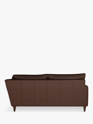 John Lewis & Partners Bailey 5+ Seater Leather Corner Sofa, Dark Leg
