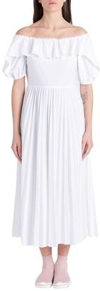 RED Valentino Off-Shoulder Ruffled Dress