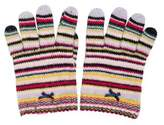 Paul Smith Girls' Striped Knit Gloves